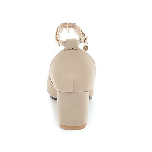 de Charms Beige Womens Dress AdeeSu SLC04039 Solid Sandalias uretano UqWt4gyXFg