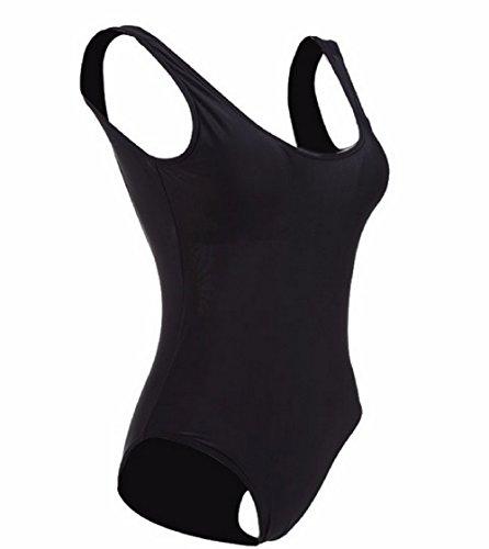 Costume L per semplice intero da bagno donna nero p1Sdaqw1