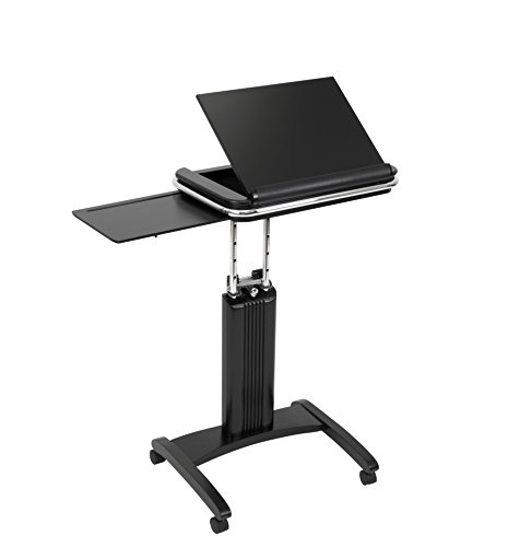 Calico Designs Versa Tech Height Adjustable Sit to Stand Up Cart, Black