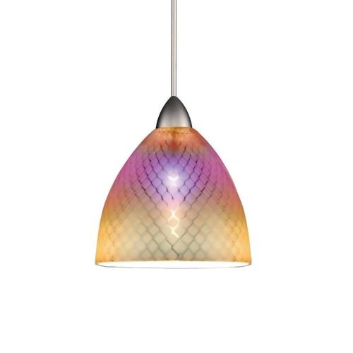 WAC Lighting MP-LED546-DIC/BN Ambrosia European Collection 1-Light 5W 12V 3500K LED Monopoint Pendant with Dichroic Shade and Brushed Nickel (Rail Monopoint Connector)