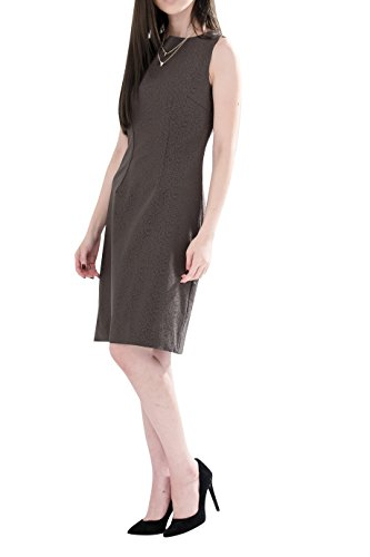 Everyday Elegance Women's Leopard Dots Sheath Business Casual Work Dress (Small, Brown) (Sailor Outfit Ebay)