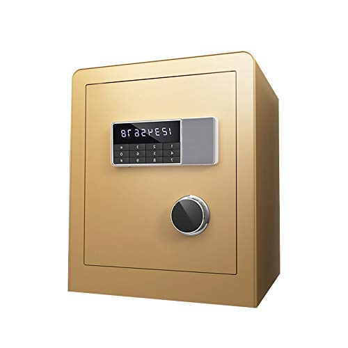 Baianju Safe Home Small Fingerprint Password Bedside Table can Enter The Wall Invisible Office All Steel Security Anti-Theft Single Door Double Door Safe