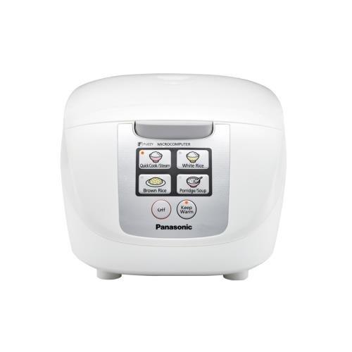 Panasonic Srdf101 White Rice Cooker 5Cup Fuzzy Logic 6 Menu