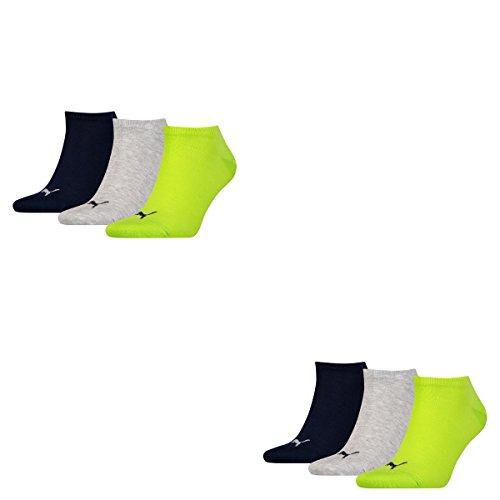 6 064 Lime Confezione Unisex Sneaker Invisible Puma da Punch Tobilleros Socks xR80xZz