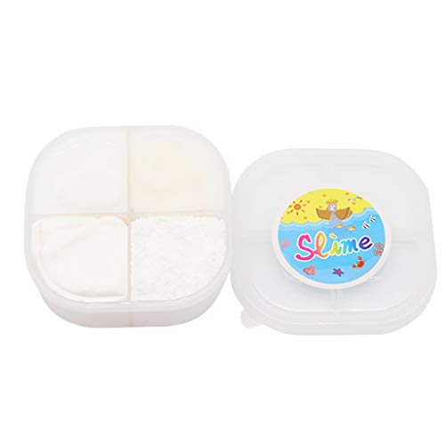 Gbell  Slime Toys for Girls,Squishies Clay 4 Grid Cloud Slime Putty Stress Relief Toys Super Soft & Squishy Sludge Toy Party Favor for Kids and Adults (4Oz (White) ()
