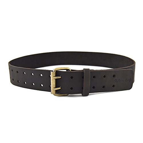 (Style n Craft 74-052 2-Inch Work Belt in Heavy Top Grain Oiled Leather, 32-Inch to 46-Inch)