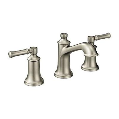 Moen T6805ORB Dartmoor Two-Handle Low Arc Bathroom Faucet, Oil Rubbed Bronze