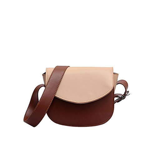(LUXISDE Women Simple Stylish Wild Round Cover Shoulder Mmessenger Bag)