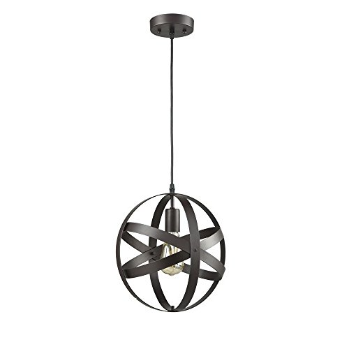 Truelite Industrial Metal Spherical Pendant Displays Changeable Hanging Lighting Fixture by AXILAND (Image #7)