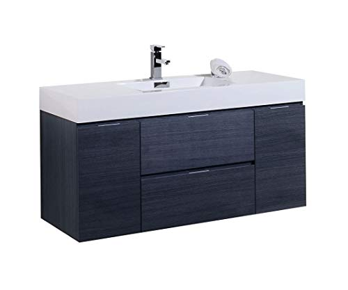 "48"" Grey Oak Wall Mount Modern Bathroom Vanity TGW7498-GO for sale  Delivered anywhere in Canada"