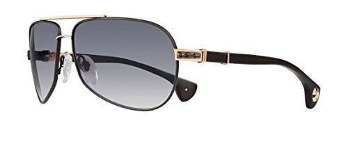 Chrome Hearts - Grand Beast - Sunglasses (Matte Black/Gold Plated - Matte Black Plastic, Smoke - Hearts Sunglasses Online Chrome