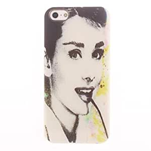 DD Beautiful Audrey Hepburn Design Soft Case for iPhone 4/4S
