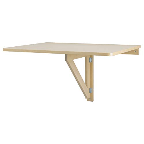 NORBO Wall-Mounted Drop-Leaf Table Birch
