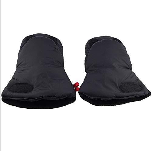 Hiver Prot/ège-Mains Chauds Gants Pour B/éb/é Imperm/éable Antigel Extra Epais Chaude Poussettes Dhiver Accessoires INTVN Poussette Gants Noir
