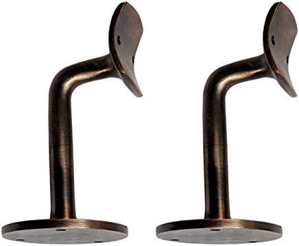 schwarz pulverbeschichtet Lieferung als 2 St/ück pro Packung Adonai Hardware Dekorative Handlauf-Halterung aus schwarzem Antik-Eisen