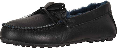 UGG Womens Deluxe Loafer, Black, Size 7