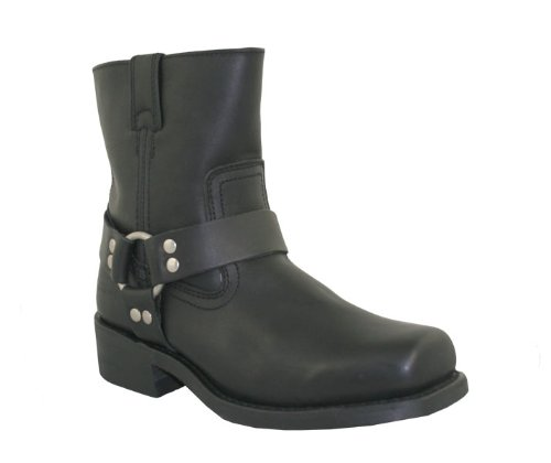 Xelement 1502 Mens Zipper Black Harness Motorcycle Boots - 13 by Xelement (Image #3)
