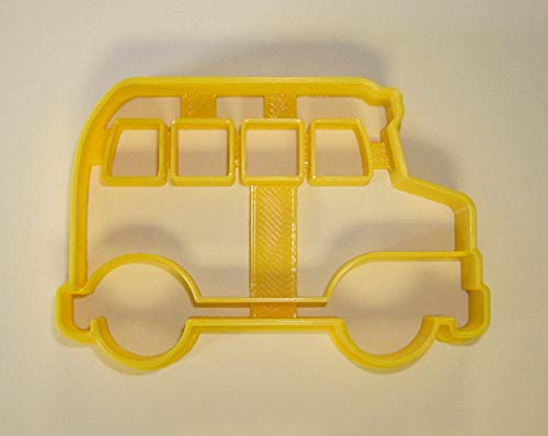 SCHOOL YELLOW BUS SIDE VIEW STUDENT TRANSPORTATION SPECIAL OCCASION COOKIE CUTTER BAKING TOOL 3D PRINTED MADE IN USA PR837