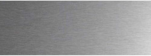 Lot 2 protections de porte inox 820 x 200 mm /à coller Plinthe protection bas de porte