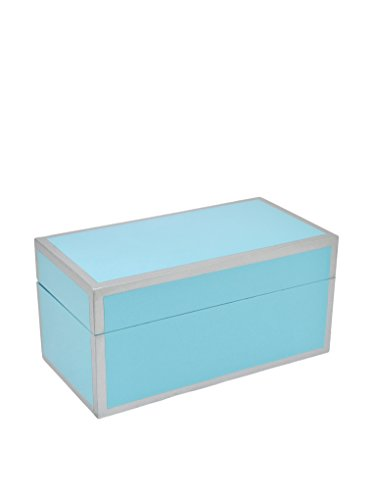 Three Hands Blue Deep Rectangle Wood Box