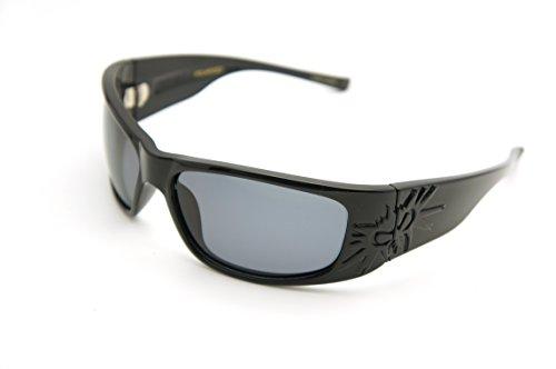 black flys Sonic Fly 2 Floating Sunglasses (Shiny Black w/ Smoke Polarized - Sonic Eyewear