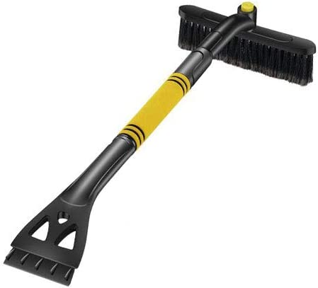 """HistenOne 32/"""" Snow Brush and Ice Scraper Heavy-Duty Extendable Detachable Frost and Snow Removal Broom with Thick Foam Grip for Cars SUV Truck Windshield Windows"""