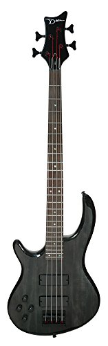 Dean Edge 4 Solid Body Left-Handed Bass Guitar, Trans Black