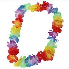 Charmed 36 Counts Tropical Hawaiian Luau rainbow Flower Lei Party Favors 3 Dozen