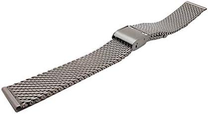 腕時計用ベルト ステンレスメッシュ メタルスライドバンド ミラネーゼブレス 18mm