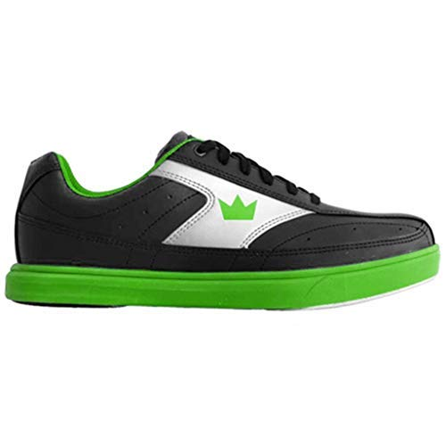 (Brunswick Bowling Products Youth Renegade Bowling Shoes- 02 (Youth), Black/Neon Green, 2)