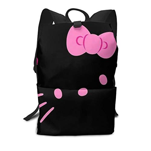 CHLING Lightweight Adult Backpack Briefcase Laptop Shoulder Bag Hello Kitty Face Classic Basic Daypack Bag -