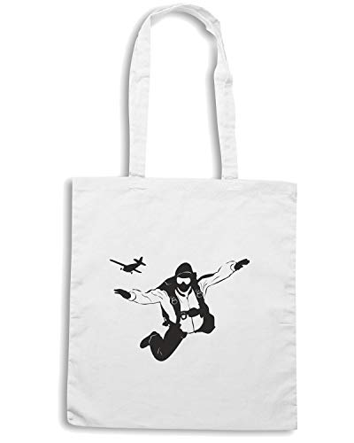 DIVING SKY A A Shopper Borsa Bianca PLANE FROM WES0350 tIXn1q