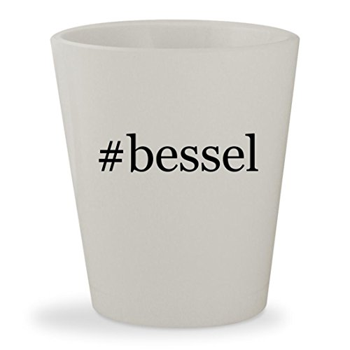 #bessel - White Hashtag Ceramic 1.5oz Shot Glass