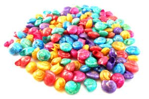 (KARPP 4 oz (About 250 Shells) Dyed Umbonium Mini Shells (1/2