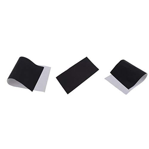 3pcs Washable Nylon Repair Patch Kit for Down Jackets Air Mat Raincoat Black