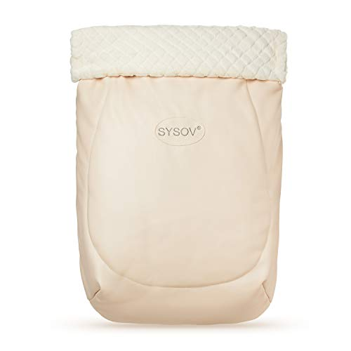SYSOV Design Baby Stroller Bunting Bag, Anti-Kicking Toddler Stroller Blanket, Super Soft and Warm Baby Stroller Bag (Beige)