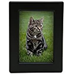 Near & Dear Pet Memorials MDF Photo Urn, 25 Cubic Inch, Black