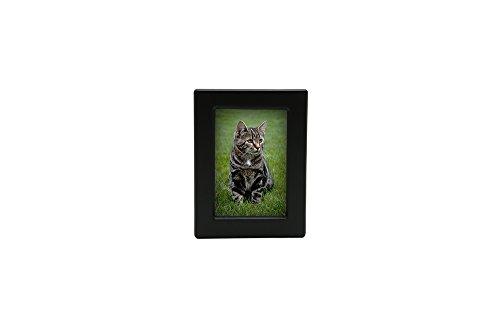 (Near & Dear Pet Memorials MDF Photo Urn, 25 Cubic Inch, Black )