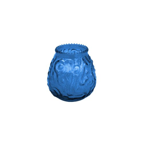 Glass Venetian Candle (Sterno Products 40120 Euro-Venetian Blue Candle - 12 /)