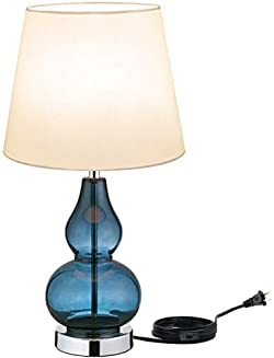 related image of Modern Accent Table Lamps Sapphire Glass Blue