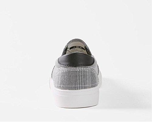 Koyi Paresseux Filles Retro Espadrilles Chaussures Retro Plates Chaussures Sneakers Chaussures Black Mocassins Femme Plaid Mode rqETxAwrp