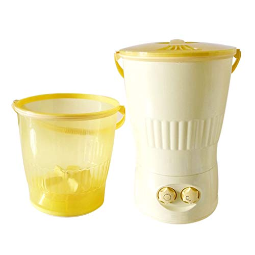 Portable Underwear Washing Machine – Special Small Mini Dormitory Bucket Washing Machine 330460 MM(Yellow)