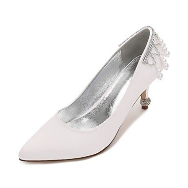 Primavera CN39 Shoes Mujeres'S EU39 Plana US8 Noche Confort Rubí De Vestido Azul Satin Champán amp;Amp; Las Boda Bowknot Heelivory Verano Wedding Rhinestone UK6 XEBqdBw