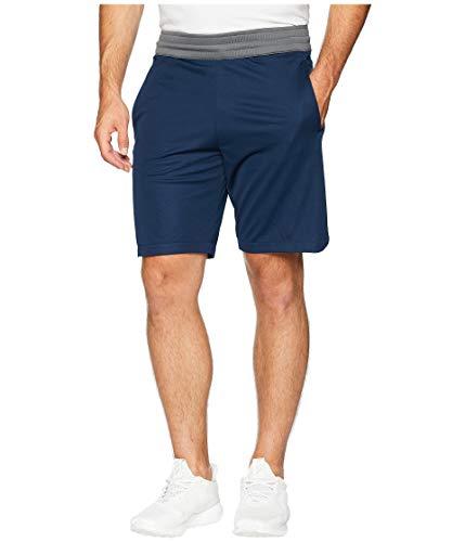 Adidas 3 Stripe Basketball - adidas Men's Basketball Accelerate 3 Stripes Short, Collegiate Navy/Grey Five, Small