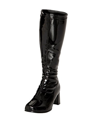 Black Patent Knee High Boots - Size 5 UK kqvOaxW
