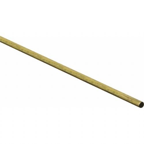 Stanley National N215-244 215244 Stanley Round Rod, 1/4 in Dia X 36 in L, Solid, Brass Dia Solid Brass Rod