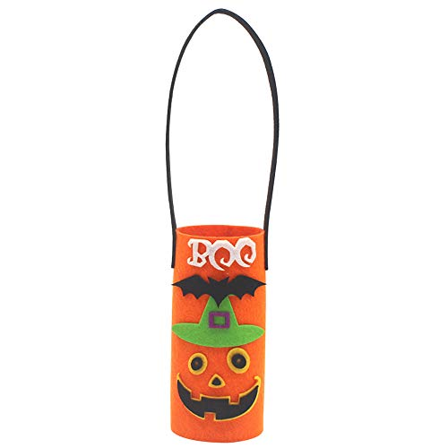 Willsa Canvas Wine Bottle Bag Halloween Party Decoration Non-Woven Fabric Bottle Bag -