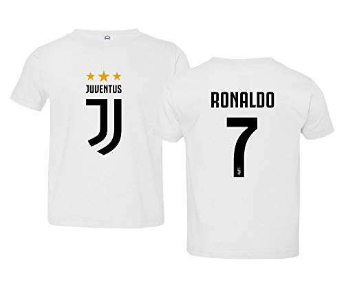 97e1aceecfd Spark Apparel Soccer Shirt  7 Cristiano Ronaldo Juve CR7 Little Kids Girls  Boys Toddler T-Shirt (White