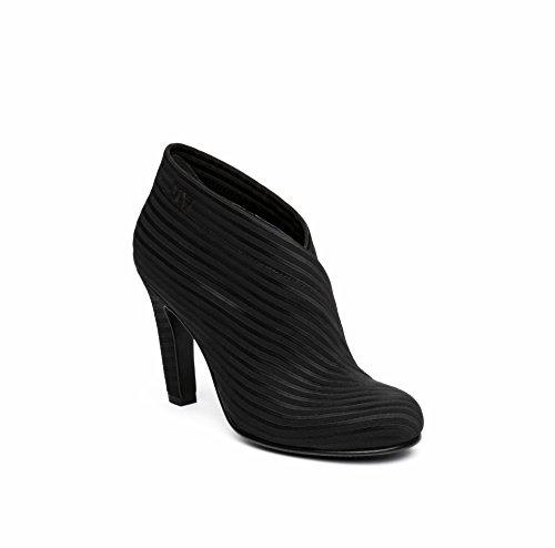 UNITED NUDE Women's Fold Hi Shoe, Black Elastic, 40 EU (9 US)