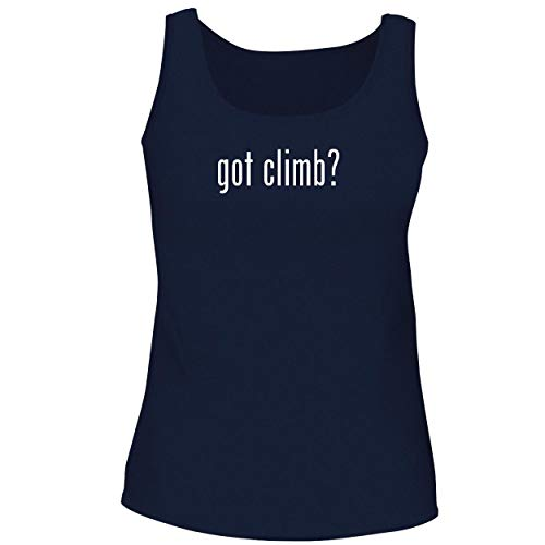 BH Cool Designs got Climb? - Cute Women's Graphic Tank Top, Navy, Small